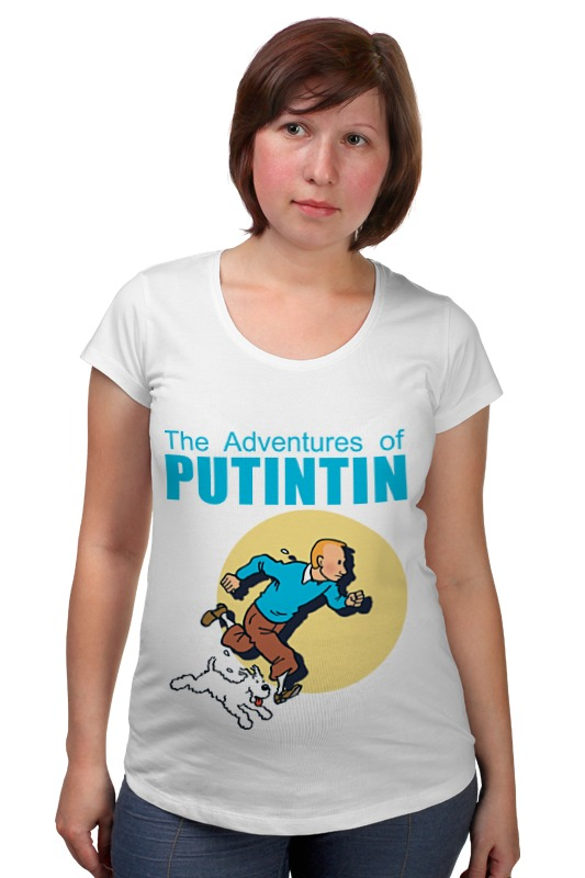 Футболка для беременных Printio Приключения путина владимир большаков охота за золотом путина