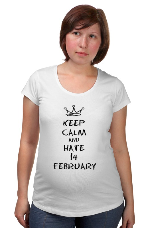 Футболка для беременных Printio 14 февраля футболка для беременных printio elements of harmony