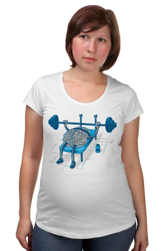Футболка для беременных Printio Качай мозги футболка для беременных printio россия украина