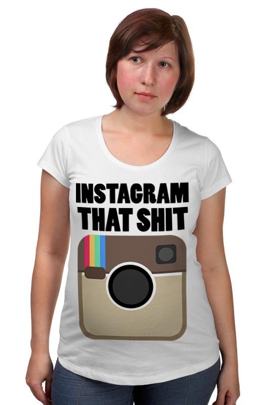 Футболка для беременных Printio Instagram instagram socialmatic camera цена
