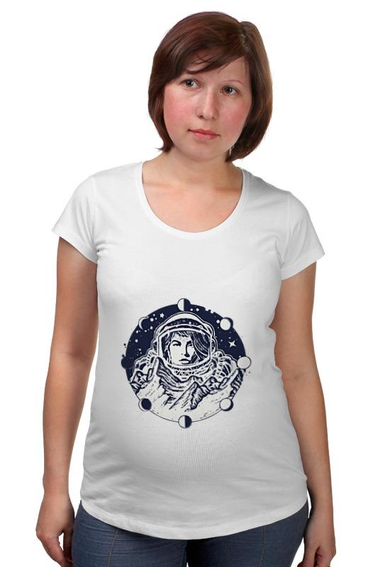 Футболка для беременных Printio День космонавтики. луна одежда для беременных