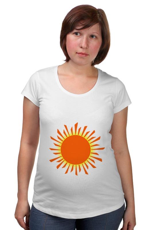 Футболка для беременных Printio Оранжевое солнце футболка классическая printio оранжевое солнце