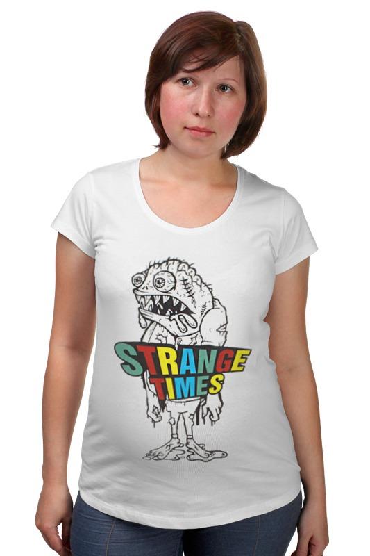 Футболка для беременных Printio Strange times goon tothestars футболка рингер printio strange times goon tothestars