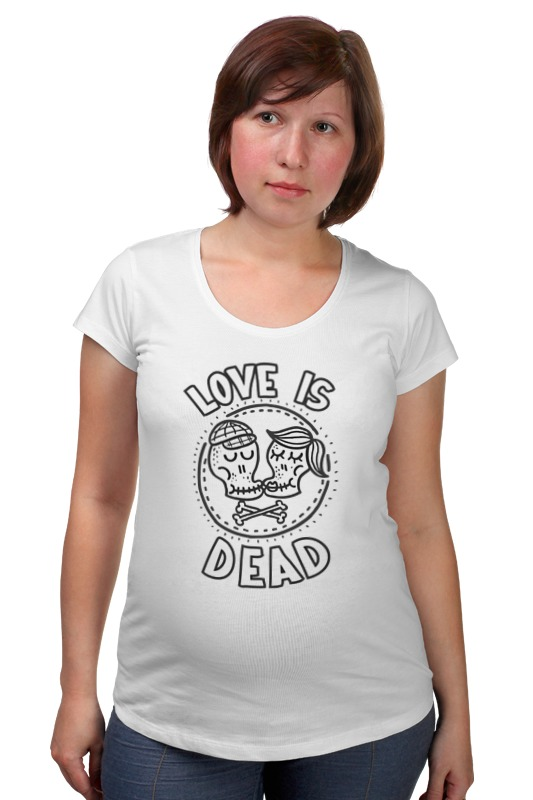 Футболка для беременных Printio Love is dead original monstr high love s not dead ghoulia yelps