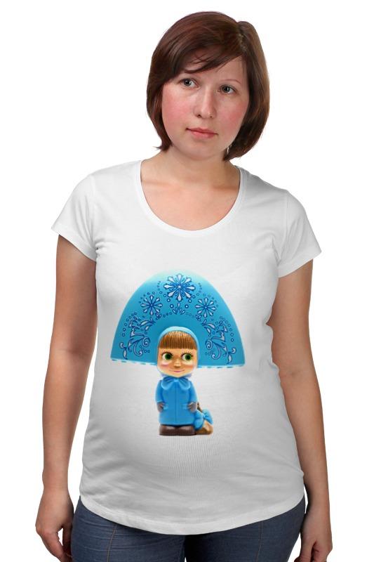 Футболка для беременных Printio Кукла-девочка маша из мульта. смешная озорная