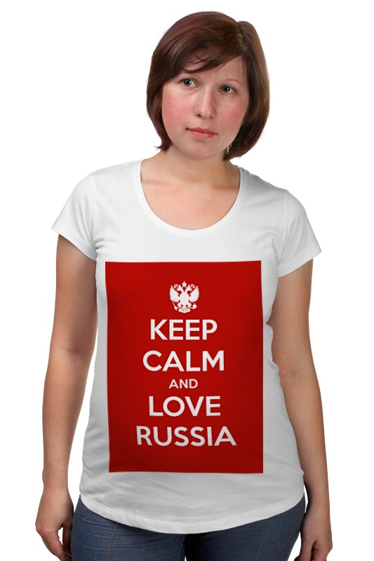 Футболка для беременных Printio Keep calm and love russia футболка wearcraft premium printio keep calm