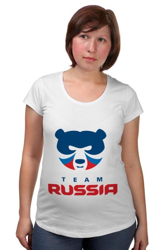 Футболка для беременных Printio Russia team