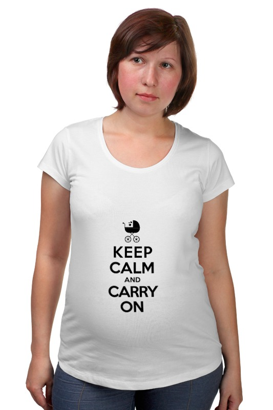 Футболка для беременных Printio Keep calm & carry on футболка wearcraft premium printio keep calm