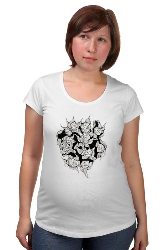 Футболка для беременных Printio Абстрактные цветы футболка для беременных printio россия украина