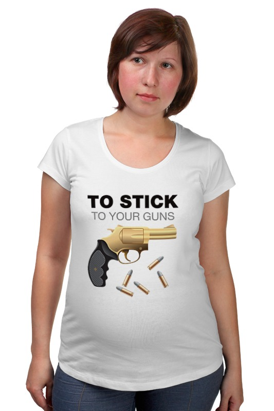 Футболка для беременных Printio Стой на своем. сленг. футболка для беременных printio держись сильнее за якорь