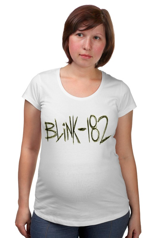 Футболка для беременных Printio Blink-182 yellow logo шапка запорожец zap classic logo sky brown yellow