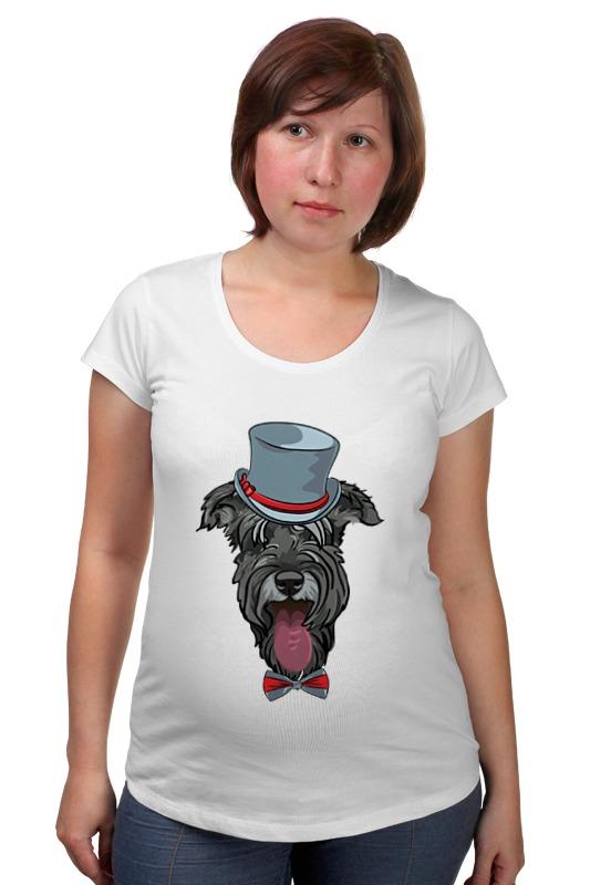 Футболка для беременных Printio Шнауцер как купить собаку в новосибирске породы ризеншнауцер без документов