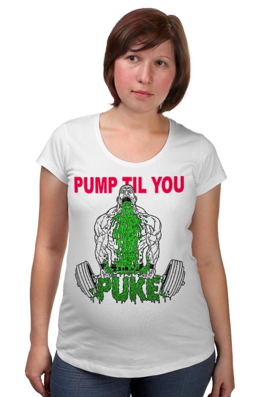 Футболка для беременных Printio Pump til you чулки seven til midnight большого размера с кружевной резинкой xl телесный