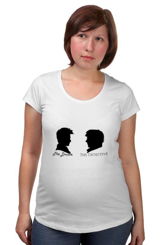 Футболка для беременных Printio Доктор кто х шерлок холмс футболка для беременных printio шерлок холмс