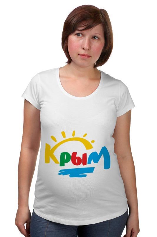 Футболка для беременных Printio Крым. россия футболка для беременных printio крым россия