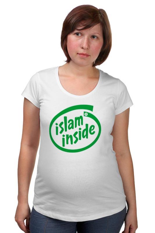 Футболка для беременных Printio Ислам внутри zamzam zamzam люблю ислам