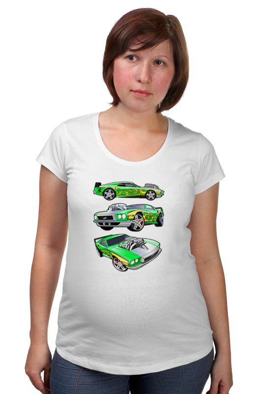 Футболка для беременных Printio Гоночные машины какие колонки для машины