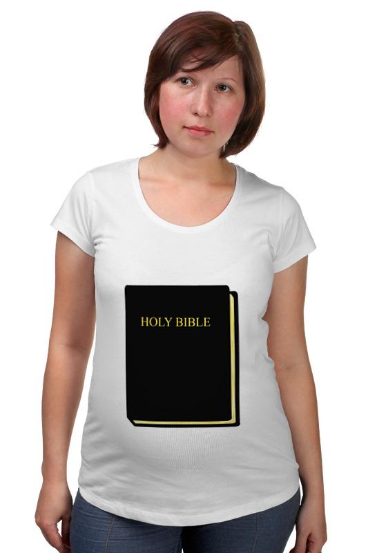 Футболка для беременных Printio Holy bible лопухин а толковая библия ветхий завет и новый завет