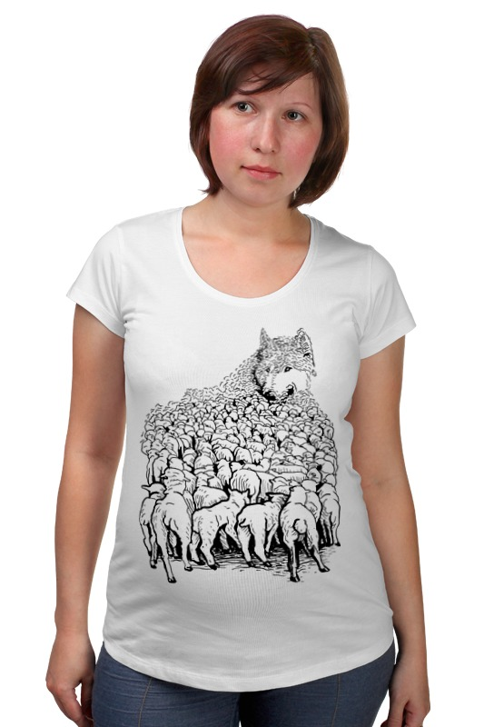 Футболка для беременных Printio Волк в овечьей шкуре футболка wearcraft premium printio волк в овечьей шкуре