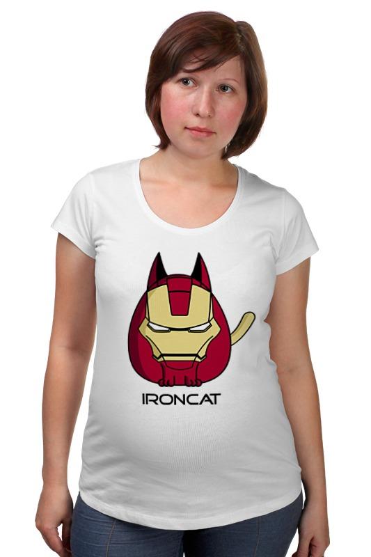 Футболка для беременных Printio Железный кот футболка для беременных printio кот персик