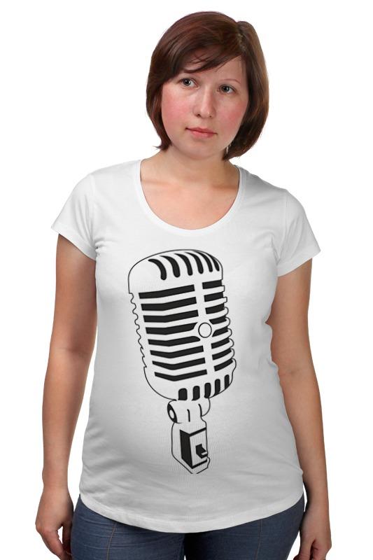 Футболка для беременных Printio Микрофон какой микрофон ребенку для начала