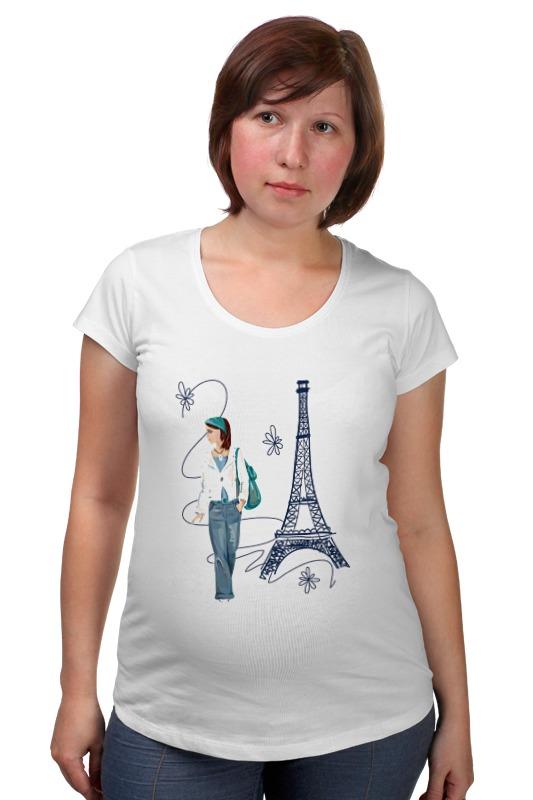 Футболка для беременных Printio Парижанка макет эйфелевой башни спб