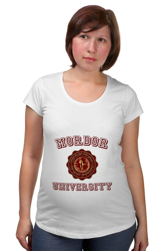 Футболка для беременных Printio Mordor university футболка стрэйч printio властелин колец lord of the ring