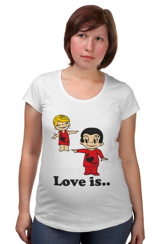 Футболка для беременных Printio Love is... футболка для беременных printio elements of harmony