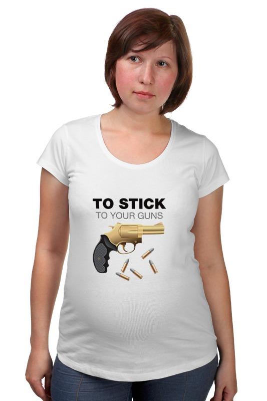 Футболка для беременных Printio Держись своих убеждений! футболка для беременных printio держись сильнее за якорь