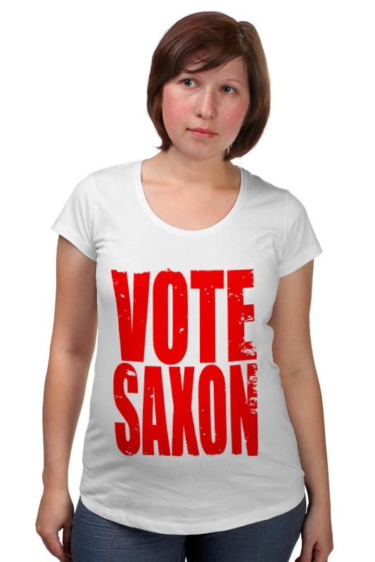 Футболка для беременных Printio Vote saxon (doctor who) футболка классическая printio vote saxon doctor who
