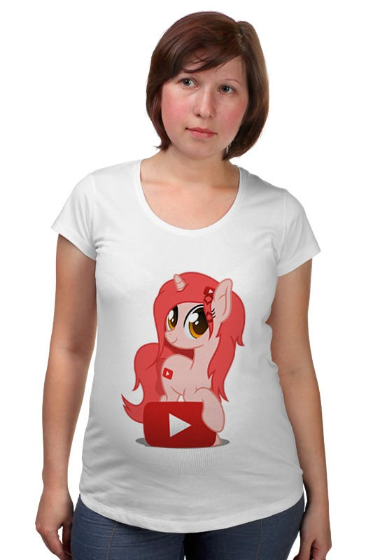 Футболка для беременных Printio My little pony: youtube