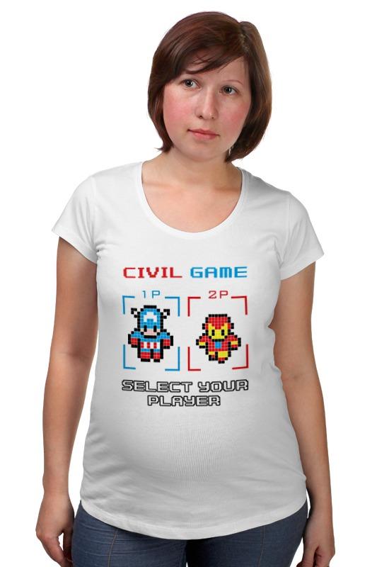 Футболка для беременных Printio Капитан америка (железный человек) футболка для беременных printio железный человек