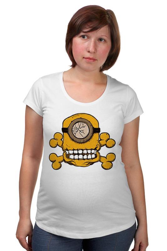 Футболка для беременных Printio Skull minion