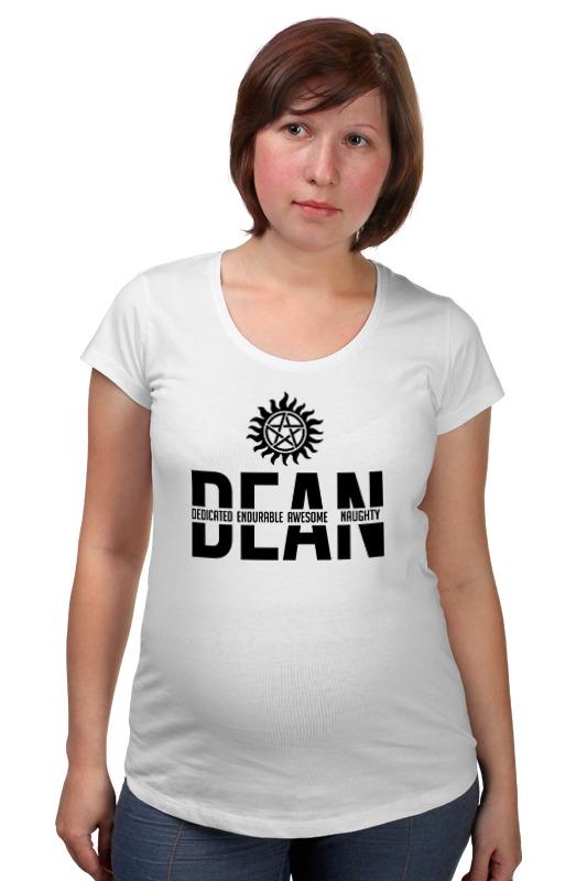 Футболка для беременных Printio Дин винчестер (supernatural) футболка wearcraft premium slim fit printio винчестер supernatural