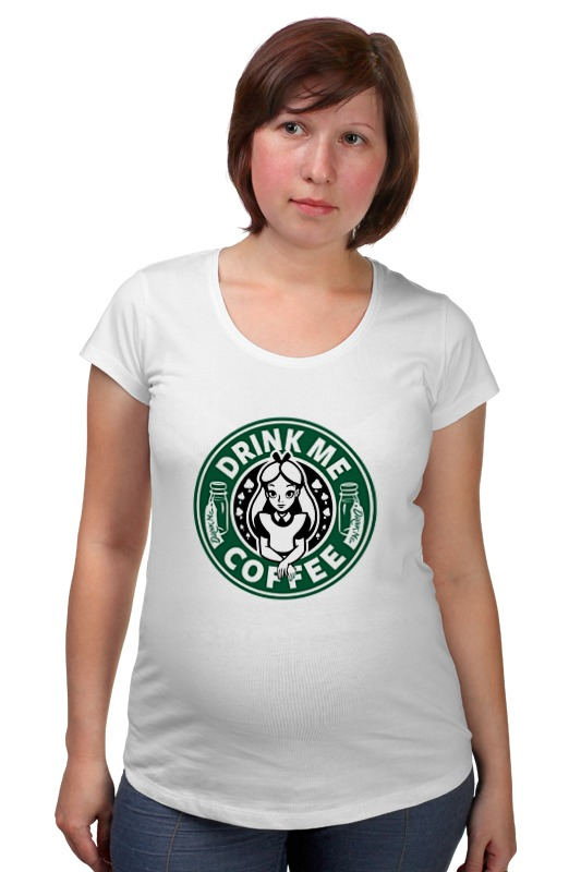 Футболка для беременных Printio Drink me coffee (налей мне кофе) me 1034 me подставка для бутылки лось винный любитель sealmark