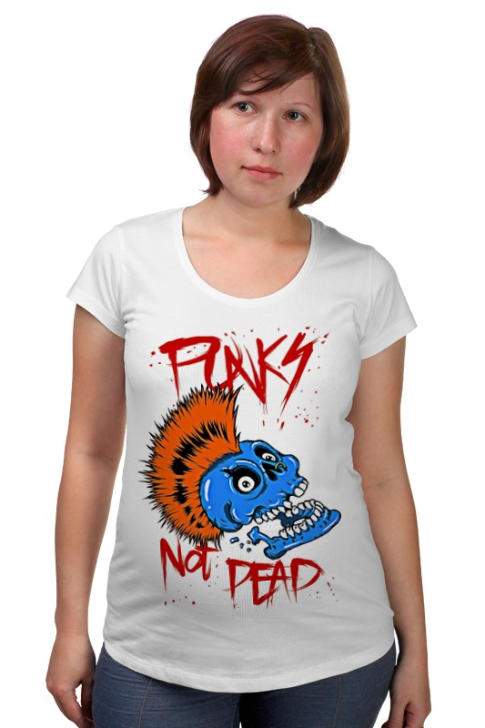 Футболка для беременных Printio Punks not dead сумка printio панки живы punks not dead