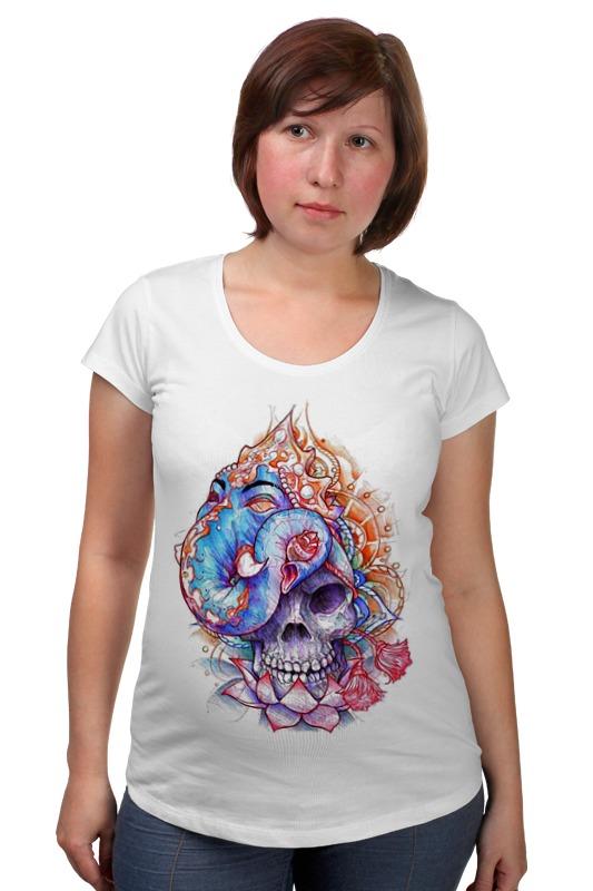 Футболка для беременных Printio Skull art футболка для беременных printio psy art arsb