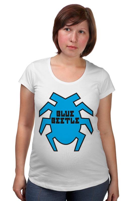 Футболка для беременных Printio Синий жук футболка стрэйч printio вольскваген жук