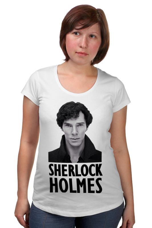 Футболка для беременных Printio Sherlock holmes dayle a c the adventures of sherlock holmes рассказы на английском языке