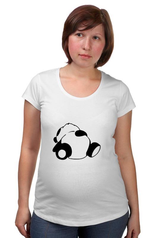 Футболка для беременных Printio Спящая панда спящая красавица