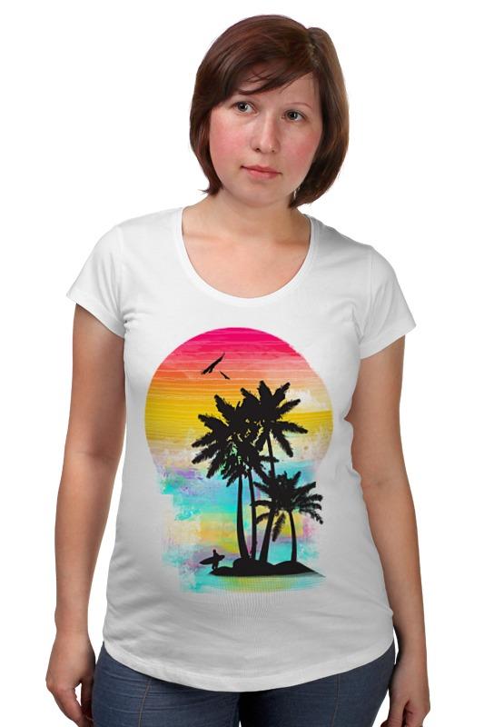 Футболка для беременных Printio Cолнечный пляж футболка для беременных printio html5