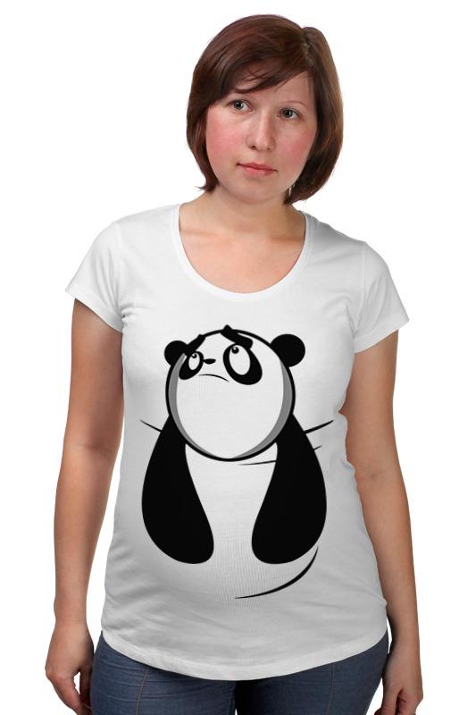 Футболка для беременных Printio Панда (panda) позиционеры для сна candide позиционер с подголовником воздухопроницаемая панда air