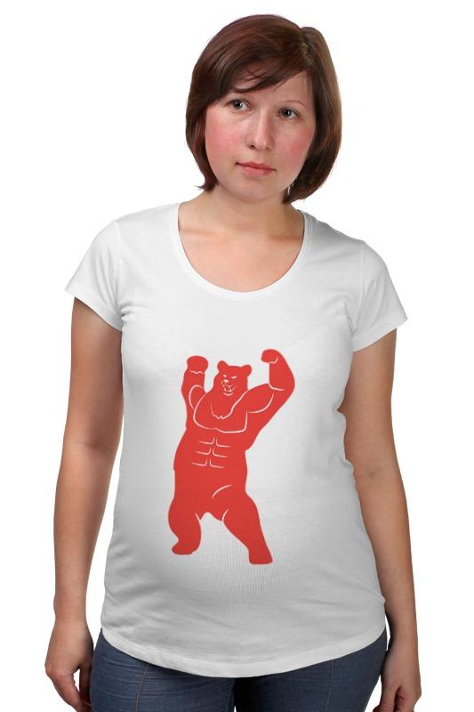 Футболка для беременных Printio Russian bear футболка для беременных printio putin love russian bear