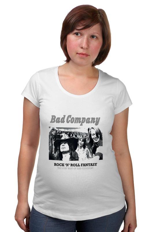 Футболка для беременных Printio Группа bad company