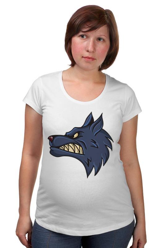 Футболка для беременных Printio Angry wolf