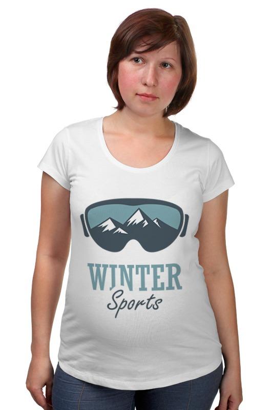 Футболка для беременных Printio Зимний спорт (winter sport)