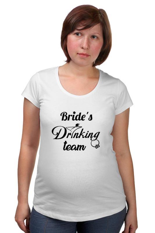 Футболка для беременных Printio Bride's drinking team ян сестры и пион букеты букеты невесты держа букет подружек невесты держа чай роза