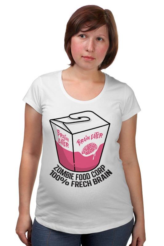 Футболка для беременных Printio Еда для зомби 1050ml сова обед коробка бенто еда безопасный пластик еда пикник контейнер портативная коробка
