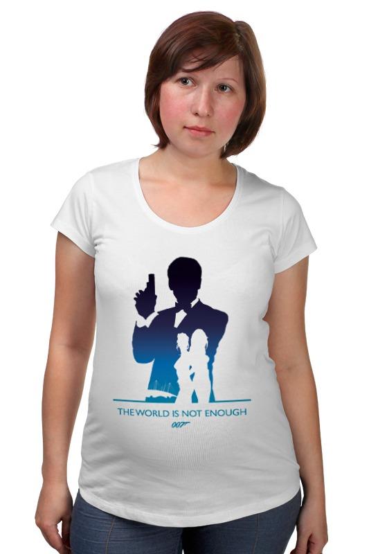 Футболка для беременных Printio 007: и целого мира мало футболка для беременных printio property of a lady 007