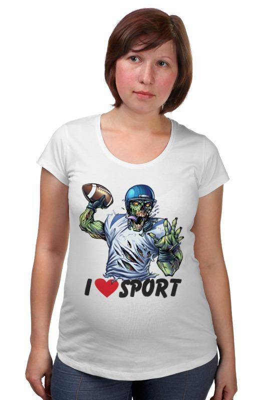 Футболка для беременных Printio Зомби спорт - я люблю спорт